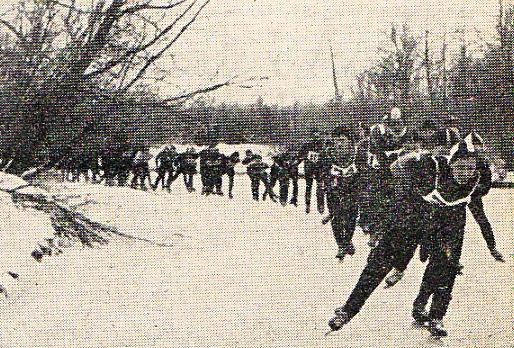 Het peloton op jacht naar de finish