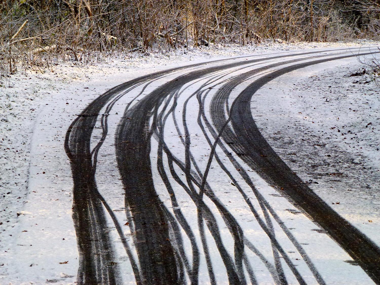 Sporen van de winter