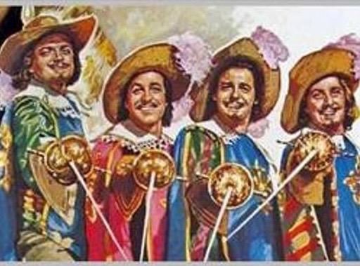 De Drie Musketiers (al zijn het er hier vier)