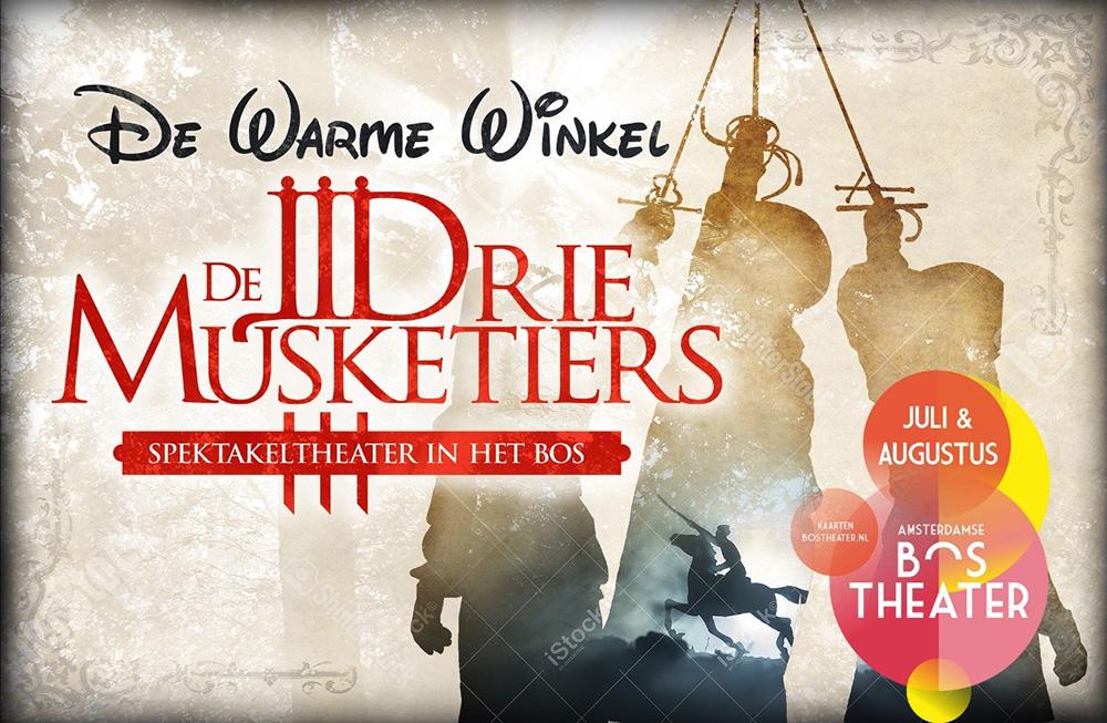 De Drie Musketiers gaan het Bostheater ontregelen
