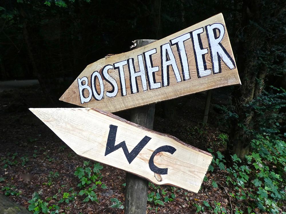 Duurzame bewegwijzering bij het Bostheater