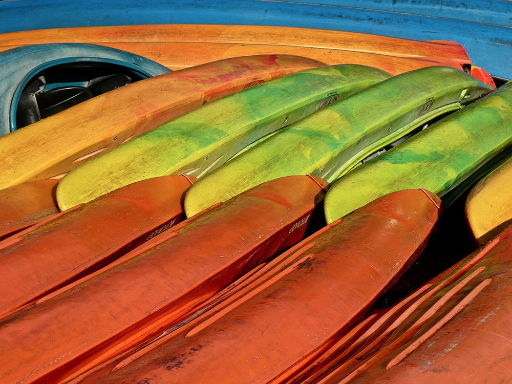 De kano's liggen voorlopig weer een half jaar op hun kant