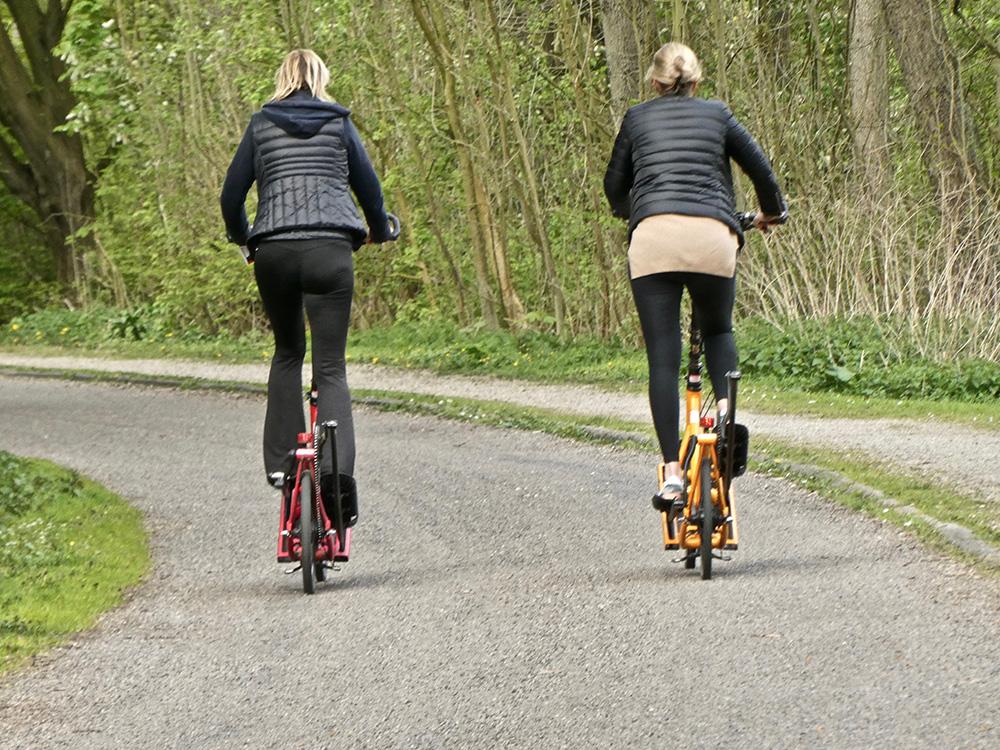 Uit de auto, op de fiets