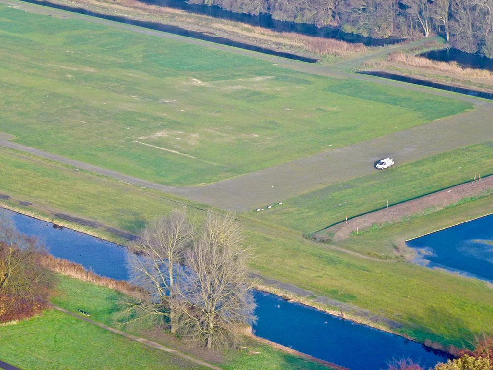 Een deel van het Land van Bosse vanuit een helikopter